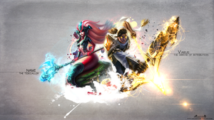 LoL - Nami and Varus Wallpaper HD by xRazerxD