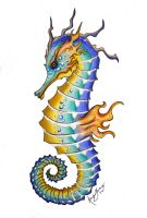 King of Seahorses by AshesDust