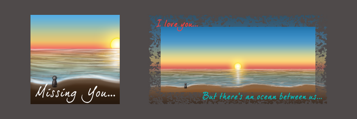 In Love Sunrise Signature/Avatar Set by Dlaeth