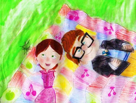 Carl and Ellie - A picnic to remember. by CartoonistInPink