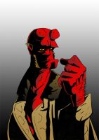 Hellboy by Hesstoons