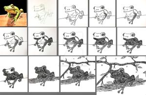 WIP - Doodle frog by mbchickenleg