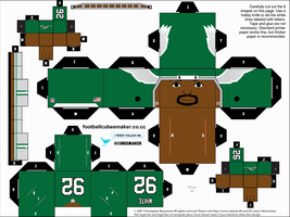 Reggie White Eagles Cubee by etchings13