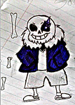 Sans the Skelenton (first try) by AdrixCosta