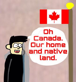 My OC singing the Canadian National Anthem by Chase450