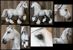 Breyer custom shire in pastels by Horse-Modeling-Guild