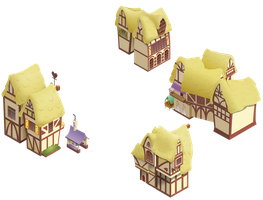 Sugarcube corner area buildings by iOVERD