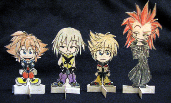 KH Game Pieces by blood-eye