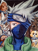 Kakashi and his Dogs #076 by Eiki331