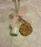 Milk and Cookies Necklace by ninja2of8