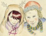 Maggot and Heath - Xmas Card by Ilojleen