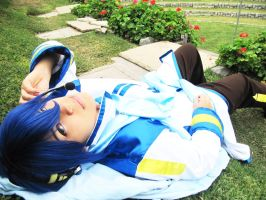 Kaito about to sleep xD by cosplayluvx3