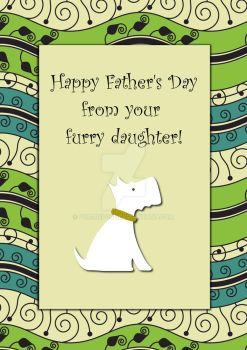 Happy Father's Day White Dog by Pur3Rep0se