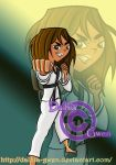 Courtney_Karate (Commission) by Dalhia-Gwen