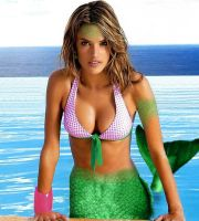 Alessandra Ambrosio mermaid morph by europa97