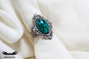 Marbled Victorian Ring by NocturneHandcrafts