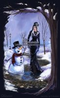 Dramira and snowman by SYoshiko