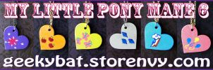 MLP Mane 6 Pendants by Hatter2theHare