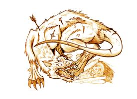 Creature - Wolf Rat - Sketch by Paladin-Ciel