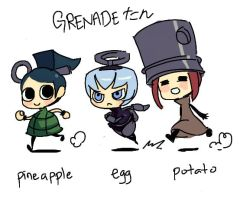 Grenade-tan doodle 01 by oh8