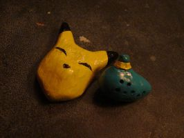 Keaton Mask and Ocarina by SaintBree