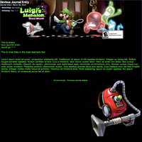 Luigi's Mansion: Dark Moon Journal Skin by GuardianofLightAura