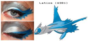 Pokemakeup 381 Latios by nazzara