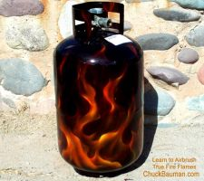 True Fire Flames Propane Tank by crb1177