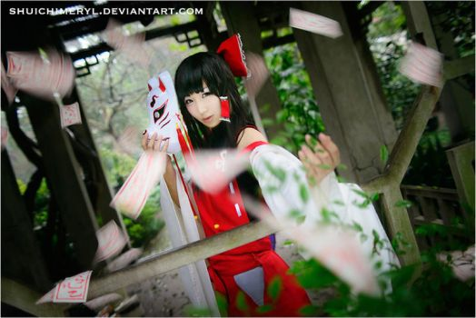 Touhou Project Derivative - Sendai Hakurei 01 by shuichimeryl