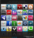 65 Bookmarks And Social Icons by Studiom6