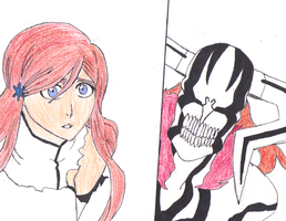 Hollowfied IchiHime by RoseDragonGuardian92