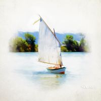 Sailing on the Tweed River by CouchyCreature
