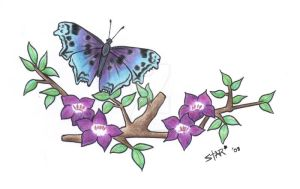 Butterfly Tattoo Design by Dirtbag-Star