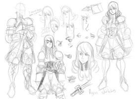 FFT: Agrias sketch compilation by OOKiiKuN