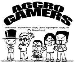 AGGRO GAMERS!!! by Chibi-Warmonger