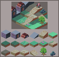 Art Test - Tileset by DrunkyMcFry