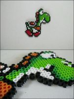Super Mario World Yoshi bead sprite by 8bitcraft