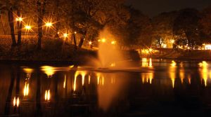 Night...fountain...silence by AR2R5