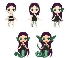 Monster High OC Knuffel - Nami Lamia by stormfaerie