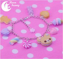 Pastel cute cookie bear Bracelet by CuteMoonbunny