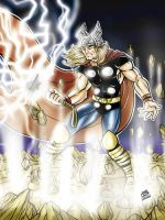 Mighty Thor by inkdropstudio