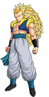 Adult Gotenks SSJ3 by SpongeBoss