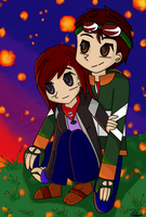 Lily and David at Sunset by CrystalWolf953