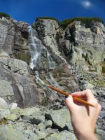 How to paint a waterfall by MirachRavaia