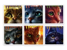 Warriors: New Prophecy new covers! by AmazeballswithSwag