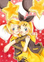Happy B-Day Rin and Len by Akino-K