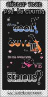 Glitter Text PSD by Cuuma by Cuuma