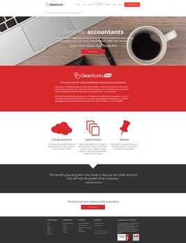Clearbooks Webdesign - Accountants by theNBT