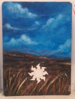 Magic the Gathering alter: Plains 11/22/14 by Ondal-the-Fool