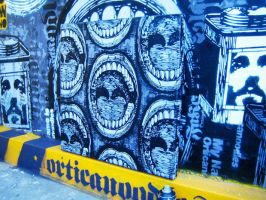 Urban painting work in progres by orticanoodles